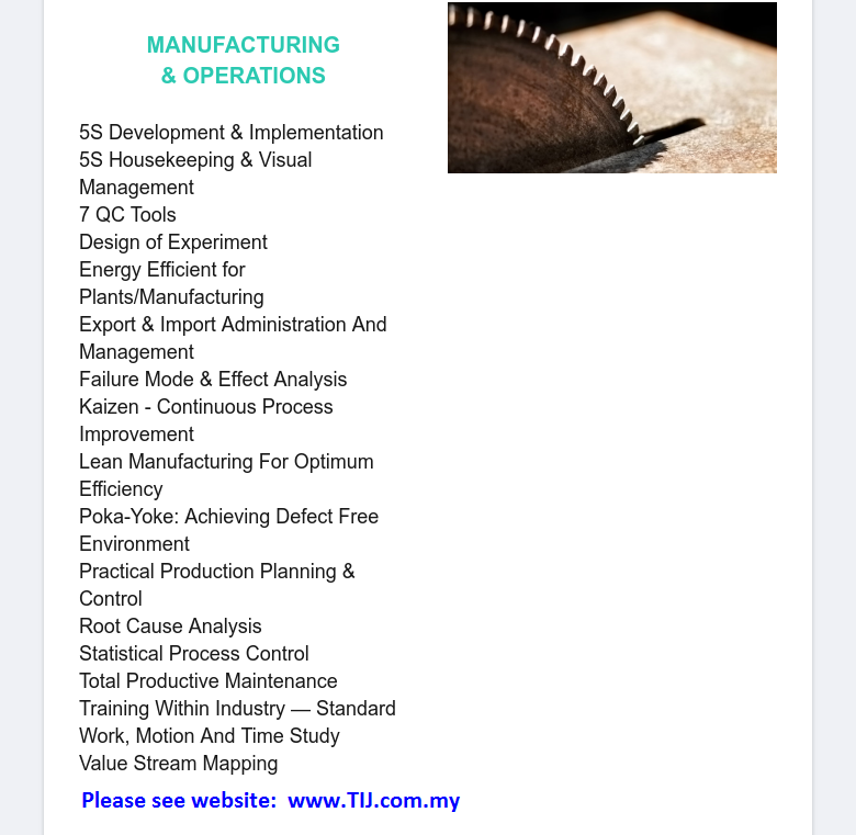 C. Manufacturing & Operations